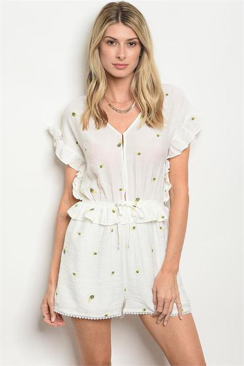 Anywhere and Everywhere Romper White - Shellsea