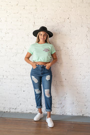 Social Distancing Graphic Tee Mint
