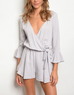 Signed And Sealed Romper Grey - Shellsea