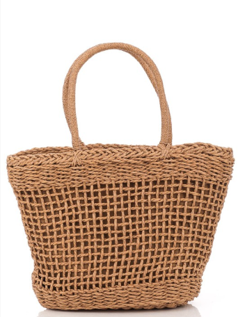 Straight To The Coast Straw Bag Natural - Shellsea