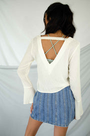 Flip the Script Open Back Top Ivory