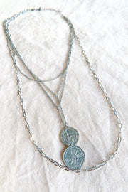We're Coin Down Layered Necklace