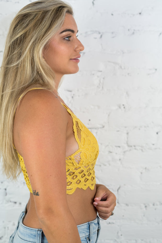 In The Spirit Bralette Yellow