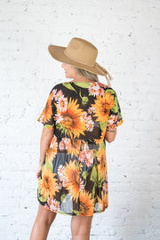 Floral Of The Story Cover Up Black