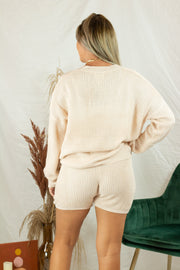 Brooklyn Knit Shorts Ivory