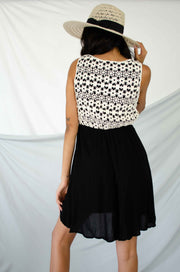 Crochet My Day Dress Black