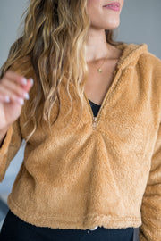 Fleece and Thank You Pullover Camel