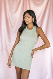 Go With Me Bodycon Dress Sage