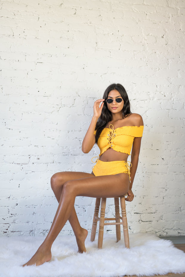 Talking Smock Bikini Bottoms Mustard