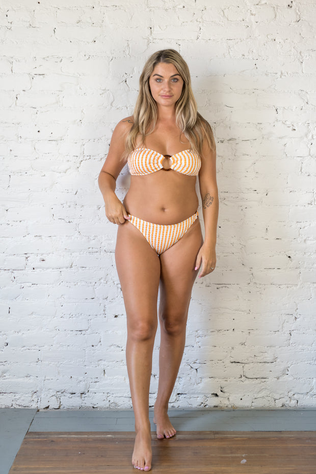 Sea Straight Striped Bikini Bottoms