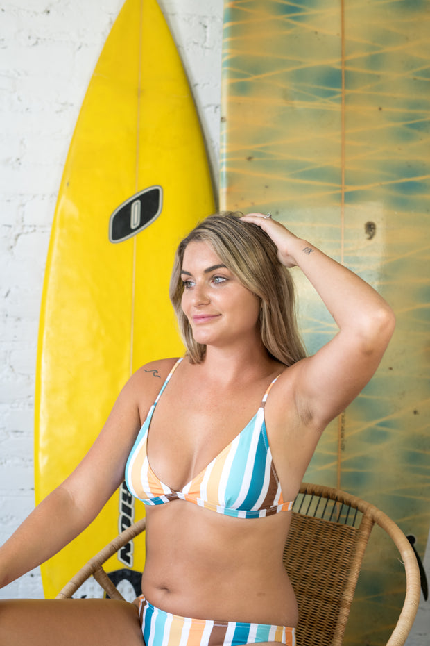 Sunkeep Striped Bikini Top