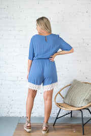 Caring For You Romper Blue