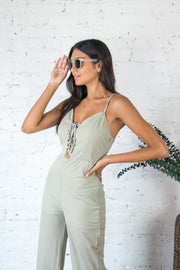 Toss The Dice Jumpsuit Olive