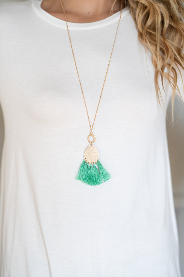 Teardrop Tassel Necklace