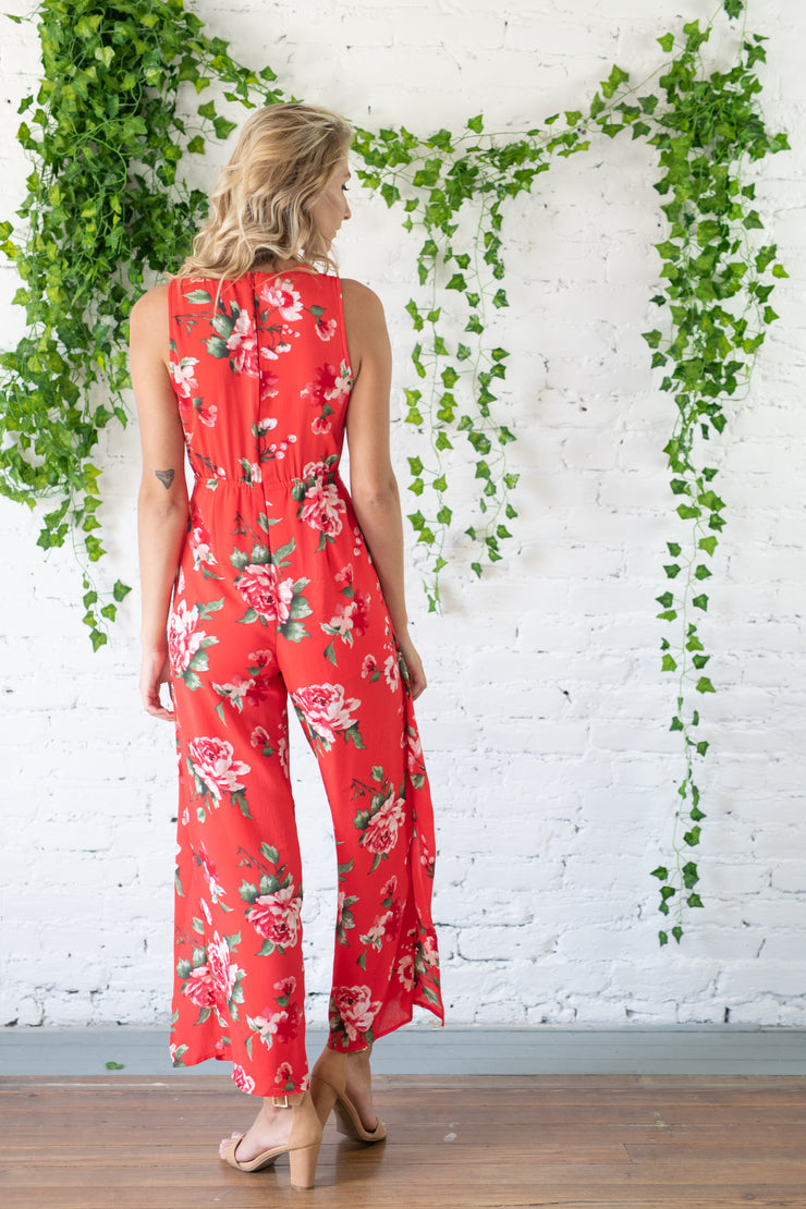 In The Name Of Love Jumpsuit Red