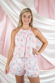 Flower Time Is Now Romper Ivory
