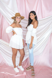 Summer Glow Off The Shoulder Tunic Ivory