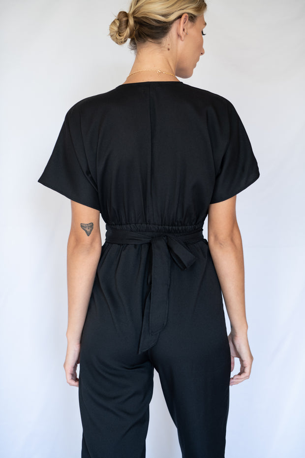 Ruffled In Love Jumpsuit Black