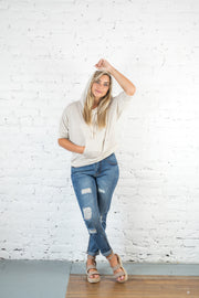 Holly Distressed Denim Jeans