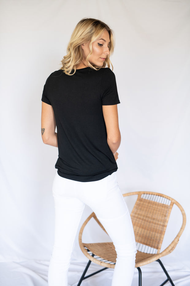 Criss Cross The Line Top Black