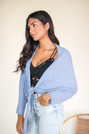 Time Ties Cardigan Top Blue