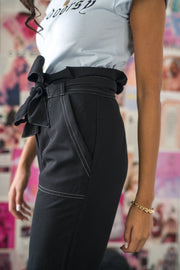 Get Up and Go Paperbag Pants Black