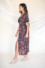 What's Blooming Floral Maxi Dress Navy