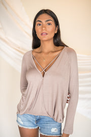 Wants and Needs Top Taupe