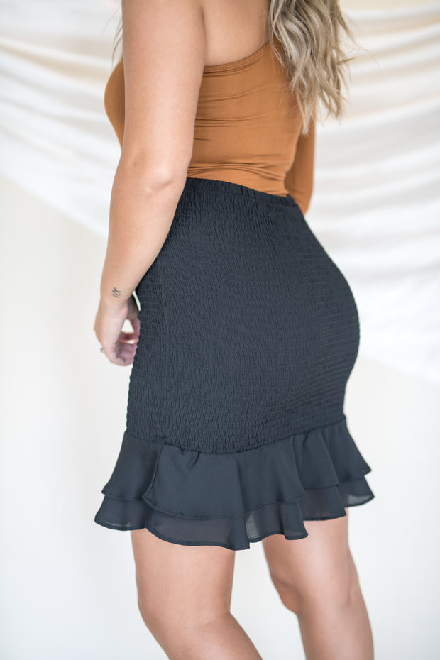Love Like That Smocked Skirt Black