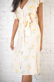 Your Best Summer Floral Dress Yellow