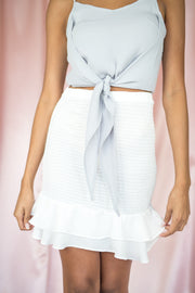 Love Like That Smocked Skirt White