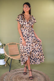 Party Prowl Maxi Dress Leopard