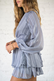 See You Swoon Romper Blue