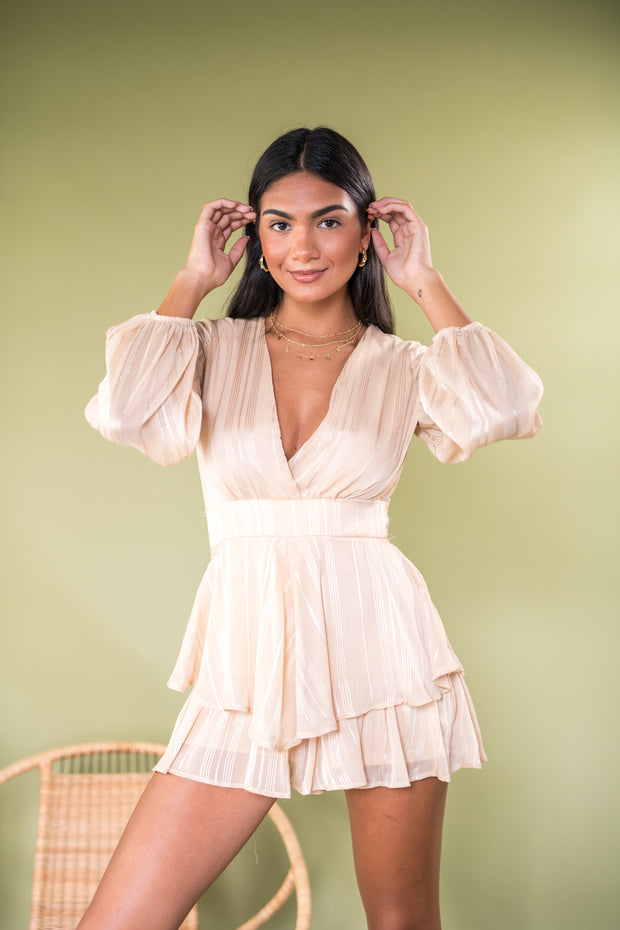 See You Swoon Romper Cream