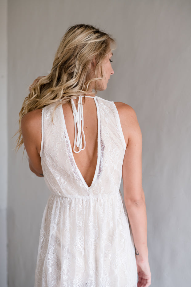 Float With Lace Dress Ivory