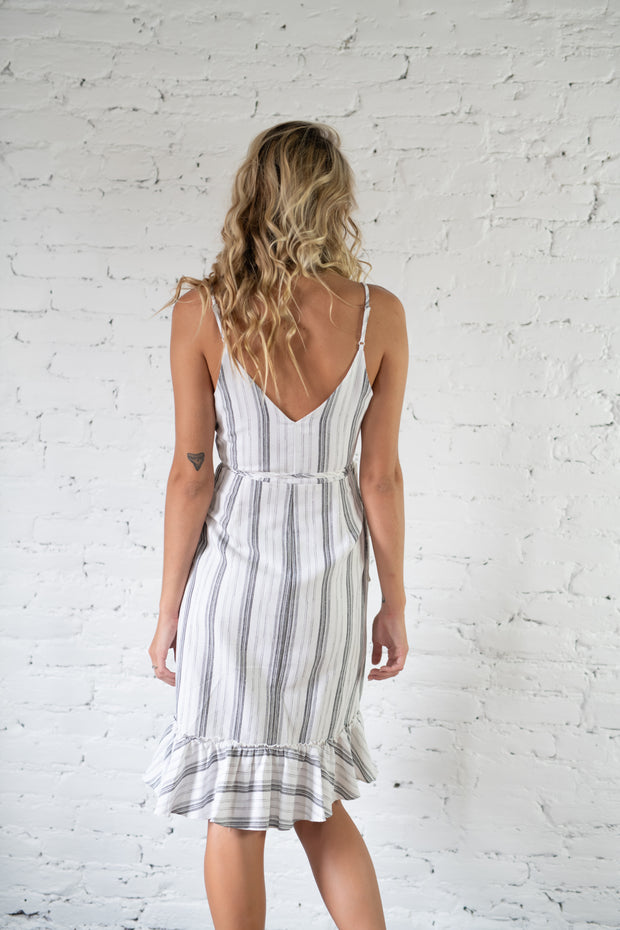 On The Dock Striped Dress White