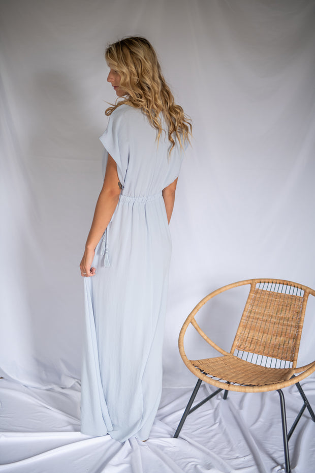 Illuminated Elegance Maxi Dress Light Blue