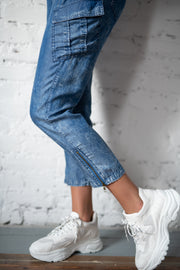Pickin It Up Denim Joggers