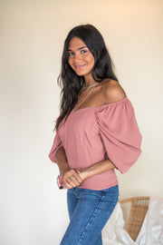 Comfort Love Top Mauve