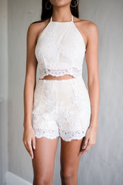 Lace Be Honest Crop Top Ivory