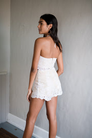 Lace Be Honest Shorts Ivory