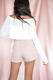 Summer Somewhere Paperbag Shorts Rose