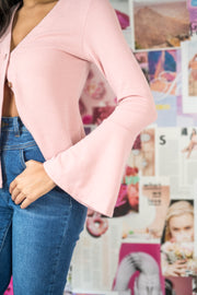 Press Pause Knit Top Mauve