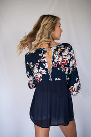 Bloom Together Top Navy