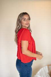 Sunny Vacation Top Red
