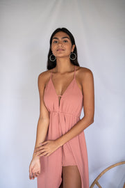 Give It A Whirl Maxi Romper Mauve