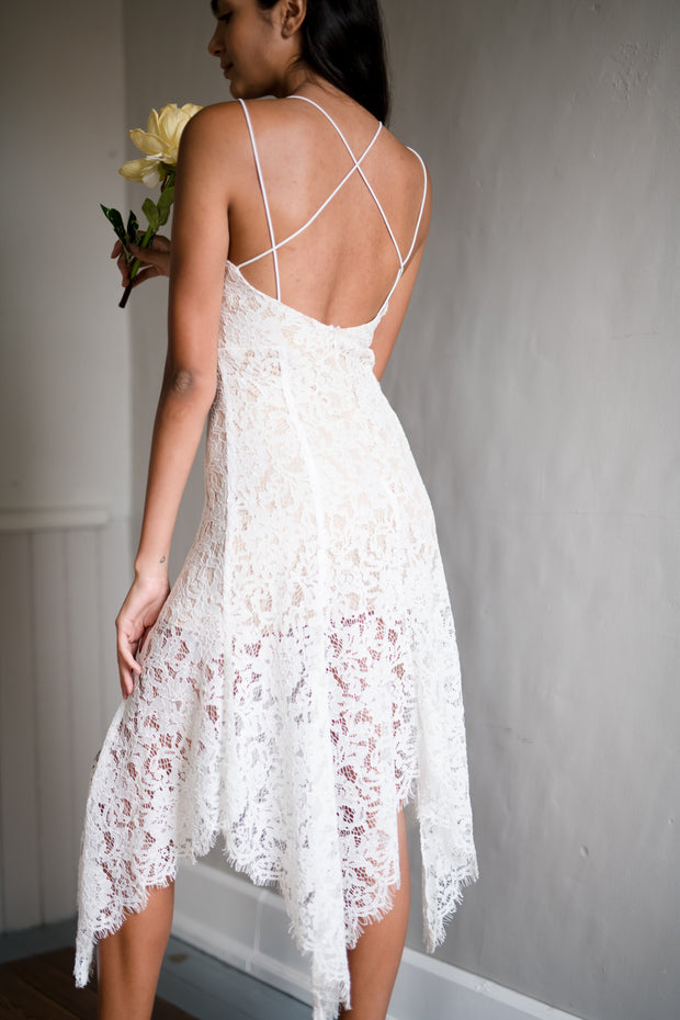 Thought Of Us Lace Dress Ivory