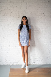 Not So Quick Knit Dress Blue