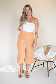 Golden Skies Corduroy Crop Pants Mustard