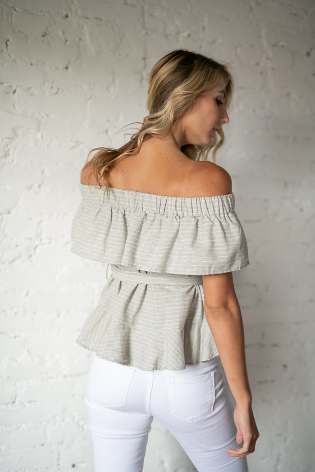 All This Time Off The Shoulder Top